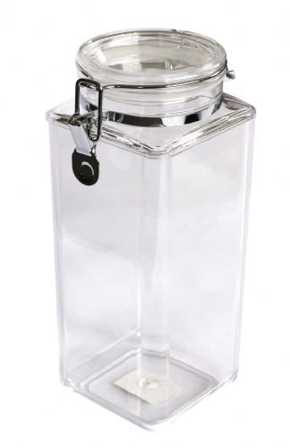 70 OZ Square Clip Jar, MS, Sealed Lid